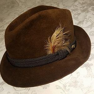 Vintage Mink Dobbs Golden Coach Walnut Fedora